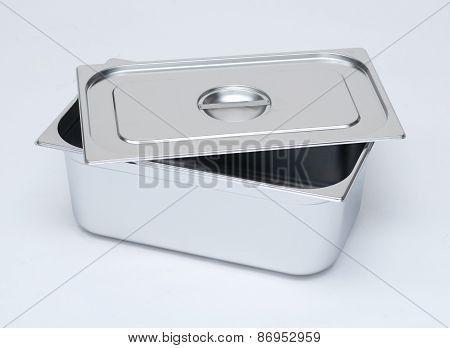 Candid photo: metal box