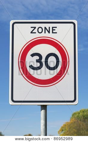30 Km Speed Limit Zone