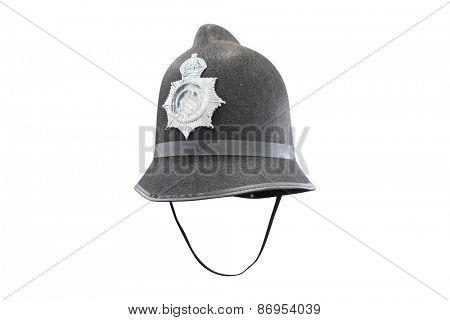 Traditional British Policeman helmet