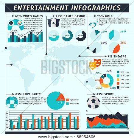 Entertainment Infographics Set
