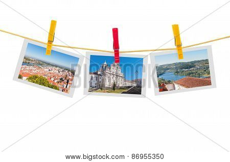 Three Photos Of Coimbra On Clothesline