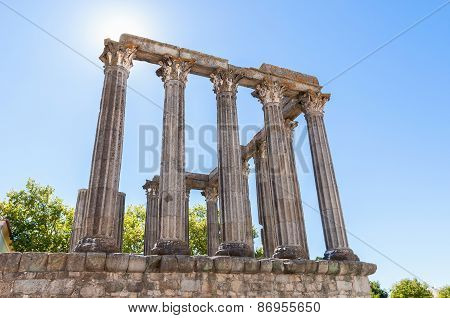 Ancient Roman Temple In Evora