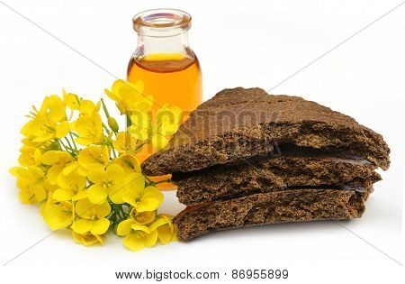 Mustard Flowers, Oil And Cake