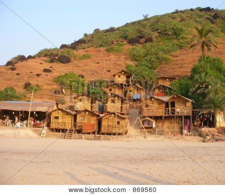 Bamboo Hut, Goa, India