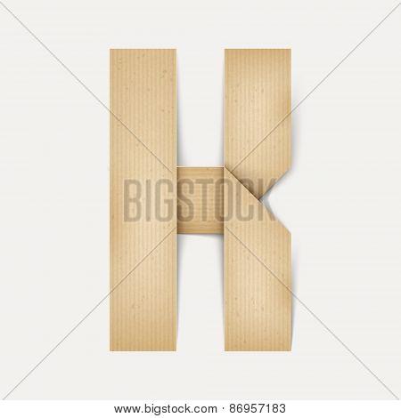 3D Elegant Folded Paper Letter K