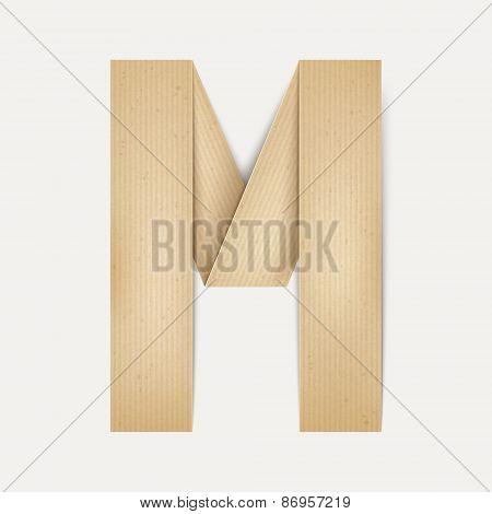 3D Elegant Folded Paper Letter M