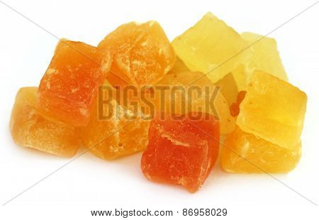 Dried Fruits Apricot And Papaya