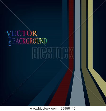 Colorful stripes with 3 d dimensional effect isolated on black.