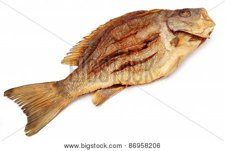 Dried Barramundi Or Koral Fish Of Southeast Asia