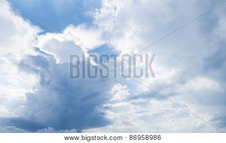 Natural Blue Cloudy Sky, Daytime, Background Photo
