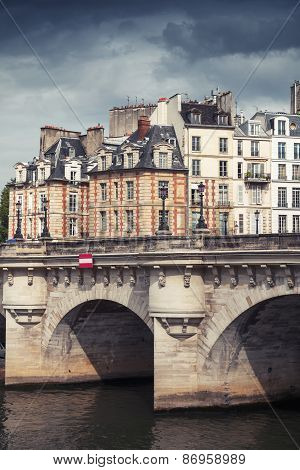 Pont Neuf. The Oldest Bridge Across The Seine River In Paris