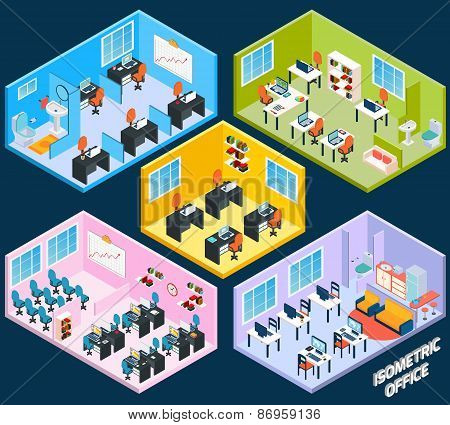 Isometric Office Interior