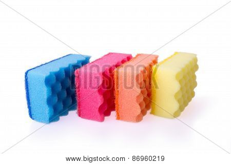 Colorful Bath Sponges