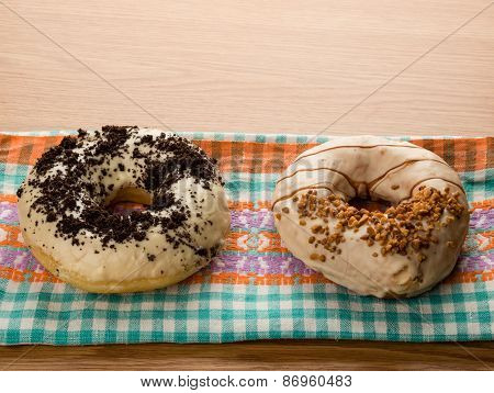 Doughnuts On Tablecloth