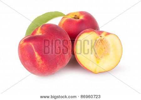 Juicy Peaches With Slice