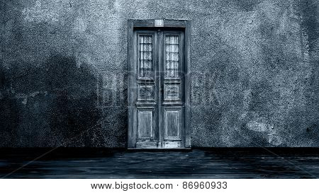 Horror scene of the Mysterious door