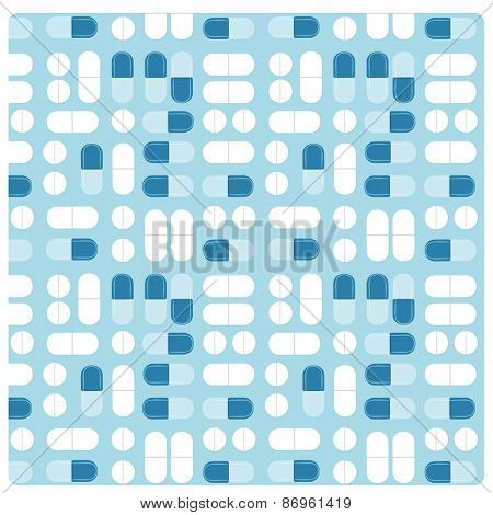 Medicine Pill Treatment Seamless Vector Flat Pattern