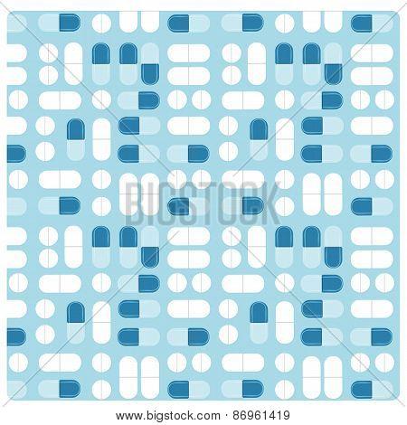 Medicine Pill Treatment Seamless Vector Flat Pattern