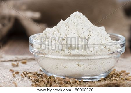 Portion Of Spelt Flour (close-up Shot)