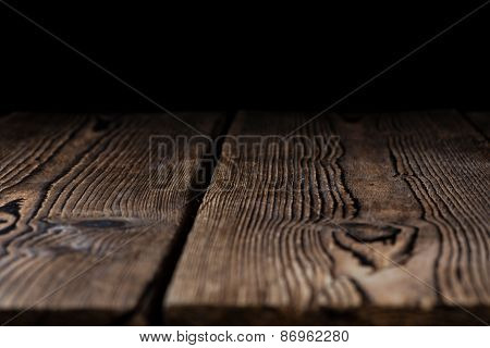 Wooden Background (with Black Copyspace)
