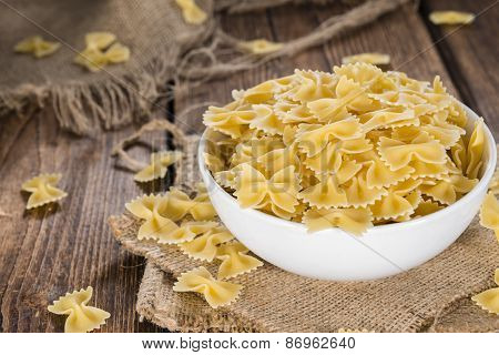 Portion Of Raw Farfalle