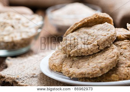 Portion Of Oat Cookies