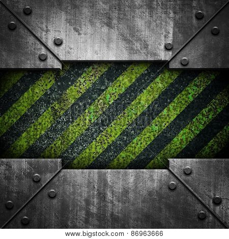 grunge metal with striped pattern