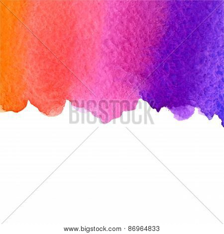 vector watercolor gradient background with copy space