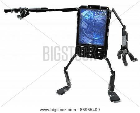 Phone Robot, Pointing