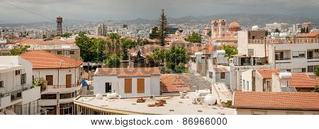 Limassol. Cyprus. Panorama Of Old Town