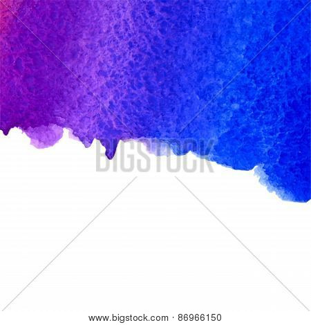 vector watercolor ultramarine and violet gradient background with copy space