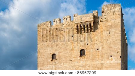 Roof Of Kolossi Castle. Limassol. Cyprus