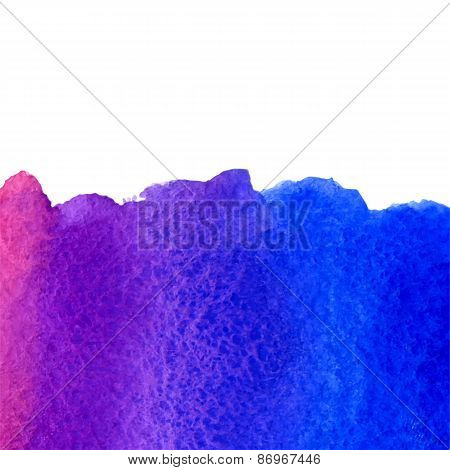vector watercolor violet and blue gradient background with copy space
