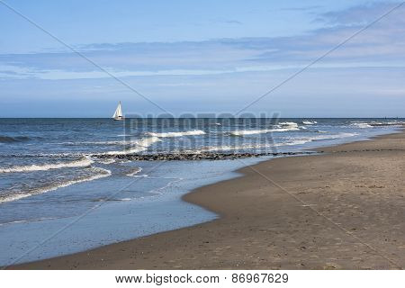 Sailboat And Beach