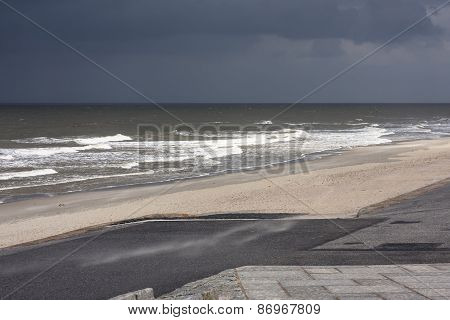 Dark Sky And Beach