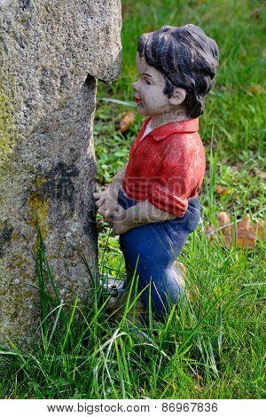 Little Boy Garden Gnome