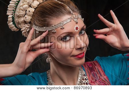 pretty girl in traditional costume