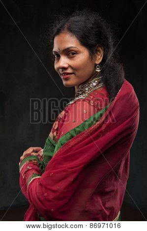 pretty woman in traditional costume