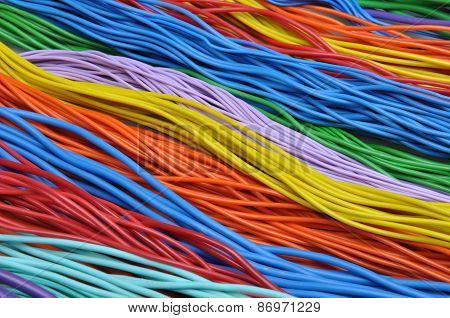 Colored wires in the global telecommunications networks