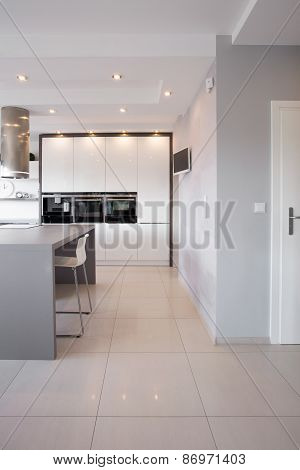 Kitchen Unit In Designed Interior