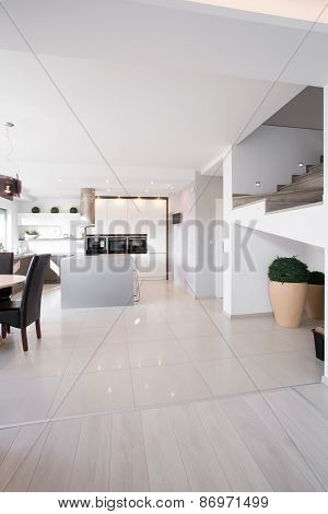 Gleaming Interior In Modern Apartment