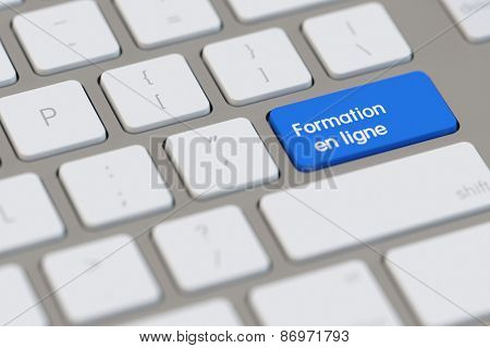 Keyboard with french slogan