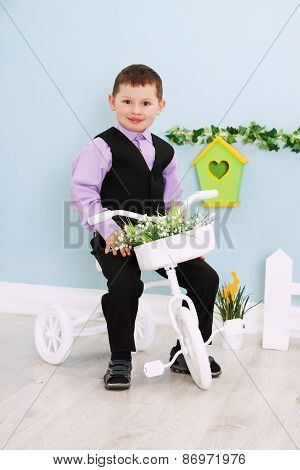Boy On A White Bicycle
