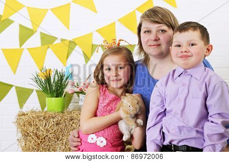 Family With A Rabbit