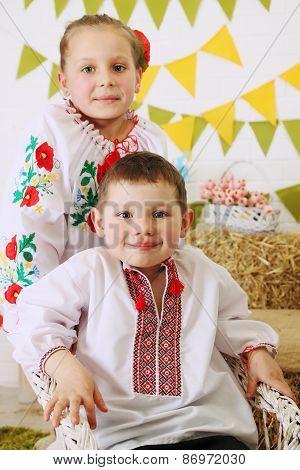 Children In Ukrainian Costumes