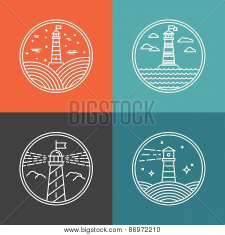 Vector Lighthouse Logos