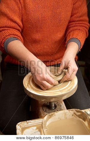 Hands Forming Clay Pot