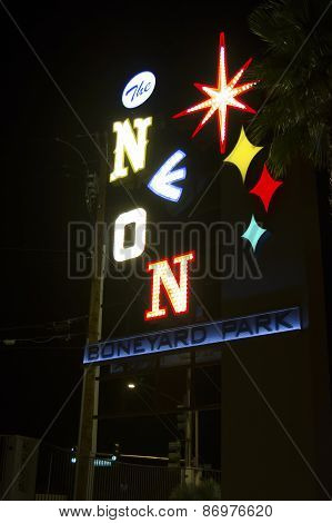 Neon Boneyard Sign