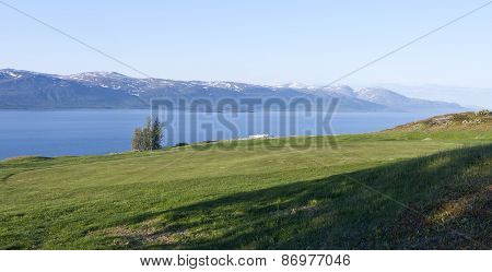 View from the Bjorkliden Arctic Golf Course.