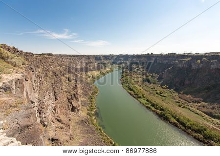 Panorama Snake River Canyon Near Twin Falls, Idaho